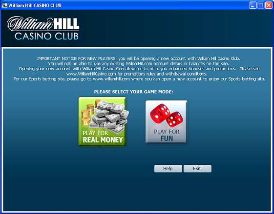 william hill casino club promotion code