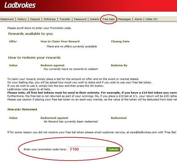 promotion code for ladbrokes