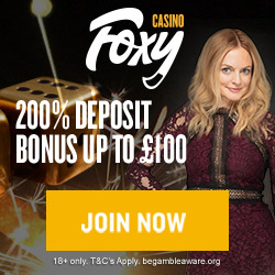 Foxy Casino Promo Code 200% Bonus