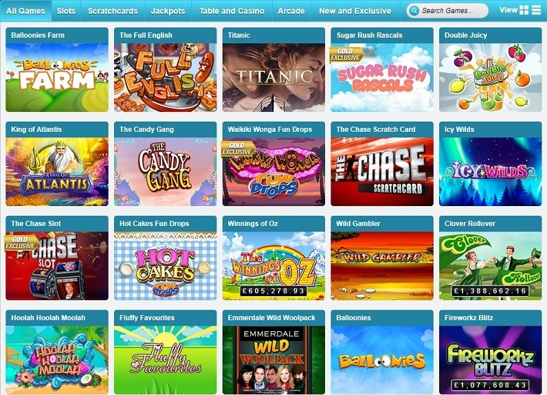 Coral Bingo Slots and Games