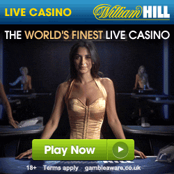 William Hill Live Dealer Casino £25 Cash Bonus