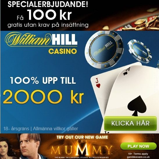 William Hill Casino Kampanjkod upp till 4000 kr