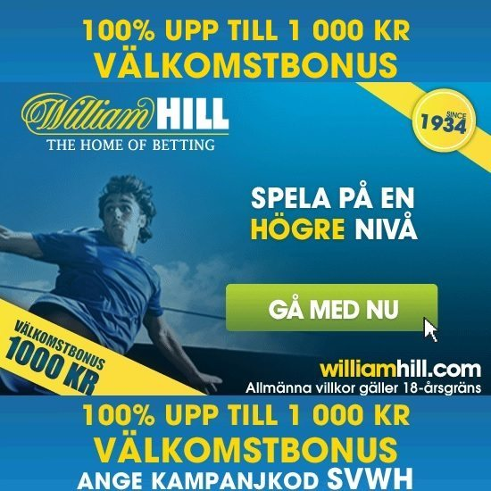 William Hill Kampanjkod Sports Casino Bonus