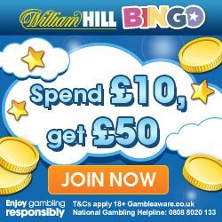 William Hill Bingo 50% Refund this Weekend!