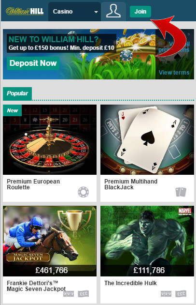 william hill live casino mobile