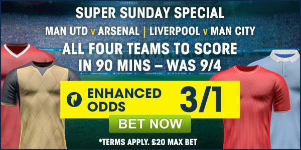 William Hill Super Sunday Special Price Boosts