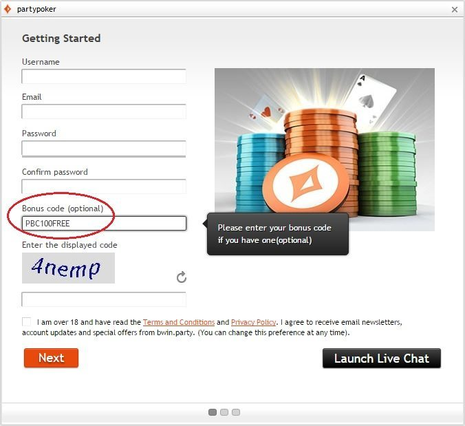 Party Poker Promo Code
