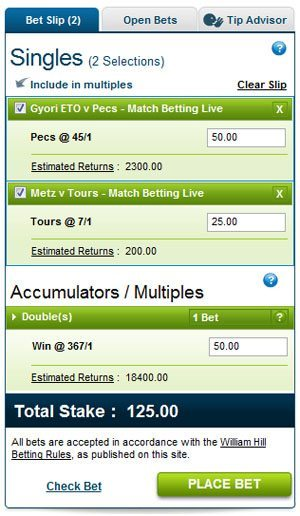how to get my free bet on william hill