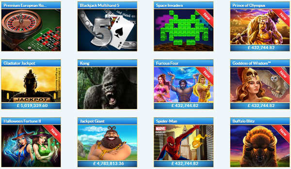 William Hill Casino Club Popular Games