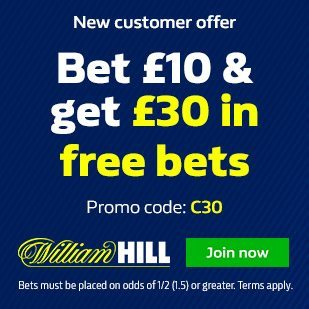 William Hill 15% Free Bet Bonus on Horses & 25% Win Bonus on Football