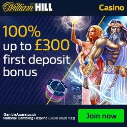 William Hill Casino Promo Code for £500 Bonus