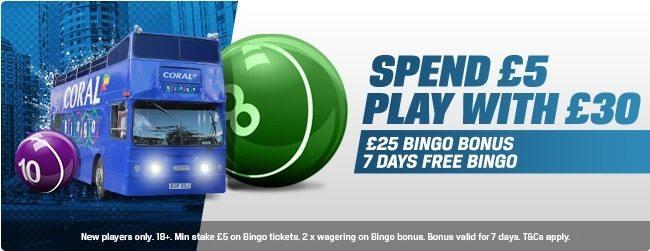 Coral Bingo Bonus