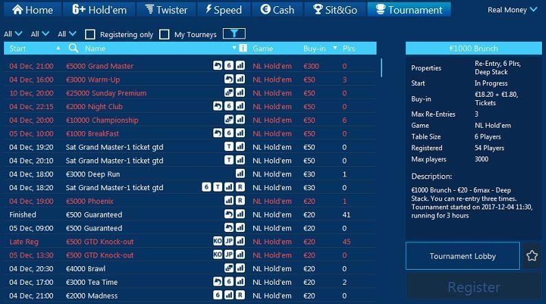 Coral Poker MTTs