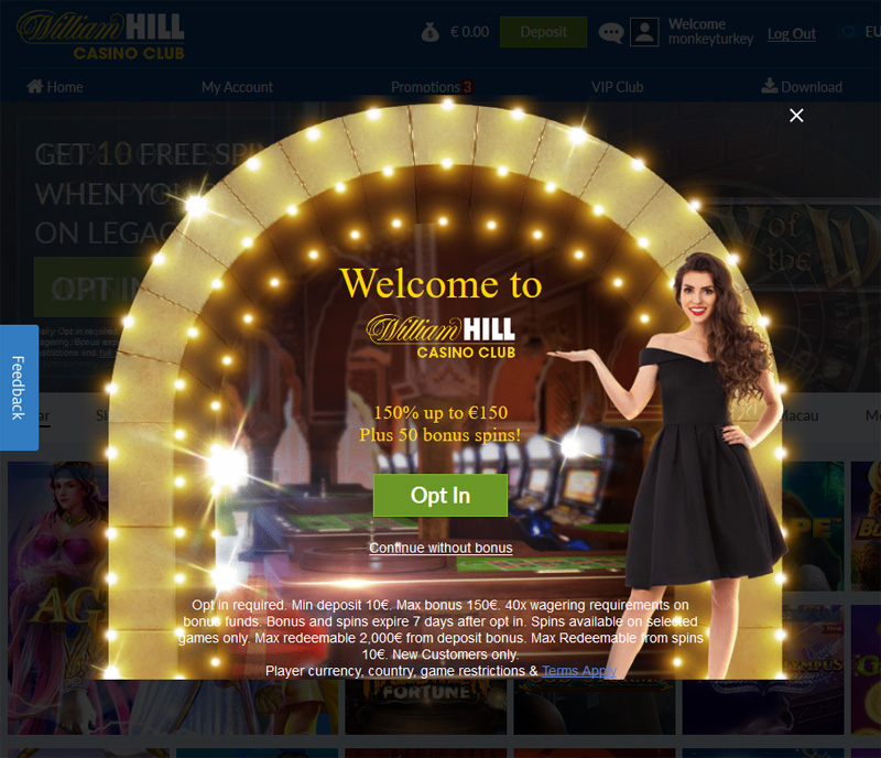 William Hill Casino Club Opt In