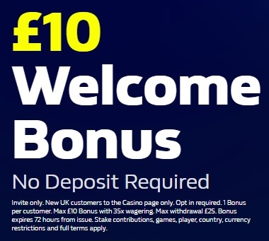 William Hill Casino £10 No Deposit Bonus Promo Code