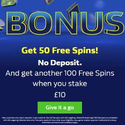 William Hill Casino Free Spins No Deposit Bonus